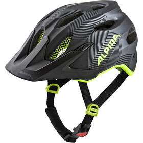 Alpina Carapax Casco Jóvenes, black-neon-yellow